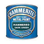 Hammerite Direct to Rust Metal Paint Hammered Dark Green 250ml