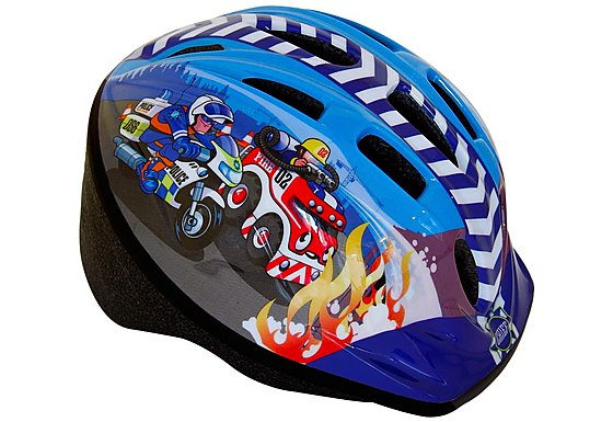 Apollo Firechief & Police Patrol Boys Bike Helmet (48-52cm)