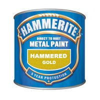 Hammerite Direct to Rust Metal Paint Hammered Gold 250ml