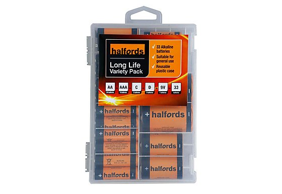 Halfords 33pc Variety Battery Pack