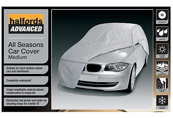 Halfords Advanced All Seasons Car Cover Medium