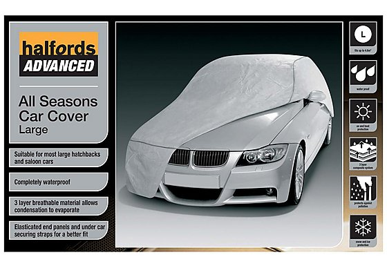 Halfords Advanced All Seasons Car Cover Large