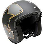 Duchinni D501 Matt Black/Orange Open Face Motorcycle Helmet