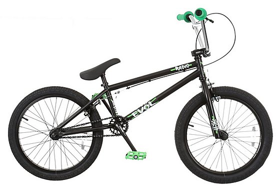 Radio Evol BMX Bike Green and Black