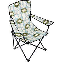 image of Olive and Orange by Orla Kiely Folding Chair - Duck Egg