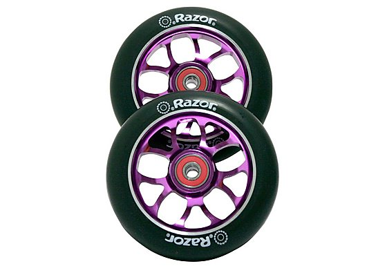 Razor Spoke Scooter Wheels - Purple