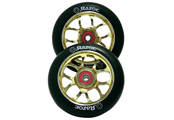 Razor Spoke Scooter Wheels  - Gold