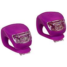 image of Halfords Mini Silicone LED Bike Lights - Purple
