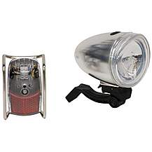 image of Halfords Real Classic Bicycle Light Set