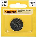 Halfords Car Alarm Battery CR2430 3V Lithium