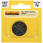 image of Halfords Car Alarm Battery CR2430 3V Lithium
