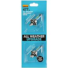 image of Halfords All Weather Upgrade Bulb (Headlight) Pack 477 x 2