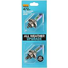 image of Halfords 472 H4 All Weather Car Bulbs x 2