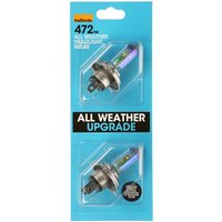 Halfords All Weather Upgrade Bulb (Headlight) Pack 472 x 2