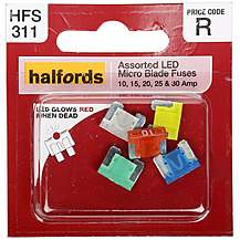 image of Halfords  Assorted LED Micro Fuses 10-15-20-25-30AMP