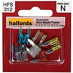 image of Halfords Assorted Mini Blade Fuses 3-5-10-15-20-25 AMP
