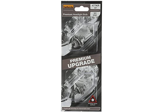 Halfords Premium Upgrade Bulb (Headlight) Pack 477 X2