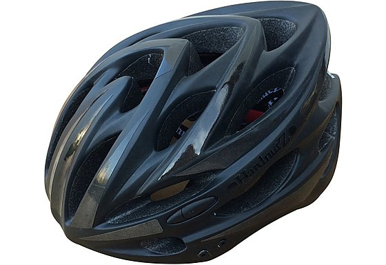 HardnutZ High Vis Matt Black Helmet (54-62cm)