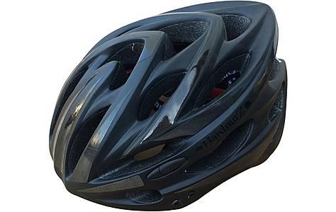 image of HardnutZ High Vis Matt Black Helmet (54-62cm)