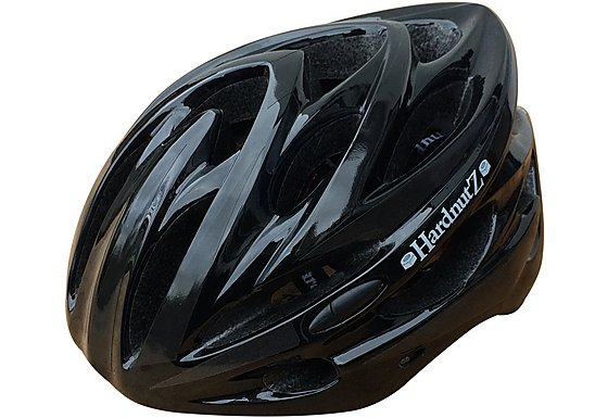 HardnutZ High Vis Gloss Black Helmet (54-62cm)