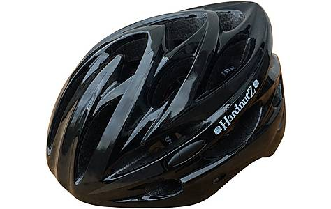 image of HardnutZ High Vis Gloss Black Helmet (54-62cm)