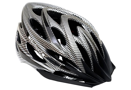 HardnutZ Black Carbon Fibre High Vis Helmet (54-62cm)