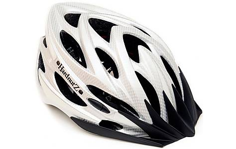 image of HardnutZ Silver Carbon Fibre High Vis Helmet (54-62cm)