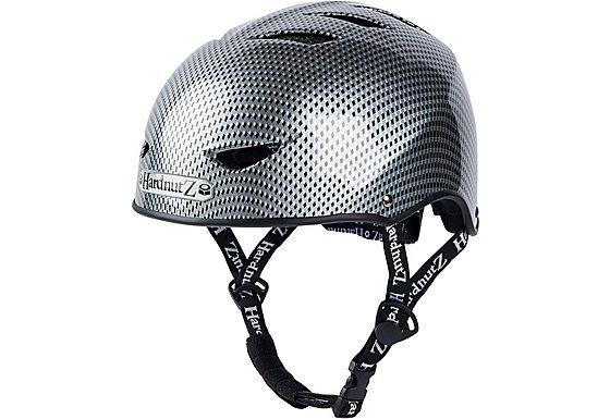 HardnutZ Black Street Helmet Carbon Fibre Effect - Large 58-61cm