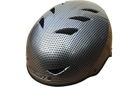 image of HardnutZ Black Street Helmet Carbon Fibre Effect - Large 58-61cm