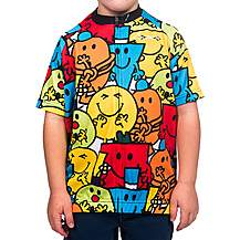 image of Junior Mr Men All Over Print Boys Cycling Jersey
