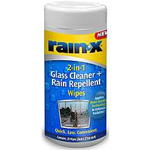 image of Rain-X 2-in-1 Glass Clean & Rain Repellent Wipes