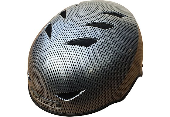 HardnutZ Black Carbon Fibre Street Helmet - Medium 54-58cm