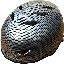 image of HardnutZ Black Carbon Fibre Street Helmet - Medium 54-58cm