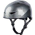 image of HardnutZ Black Carbon Fibre Street Helmet - Medium 54-58cm