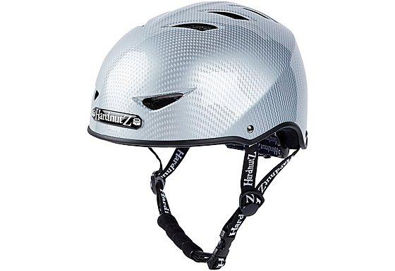 HardnutZ Silver Carbon Fibre Street Helmet - Large 58-61cm