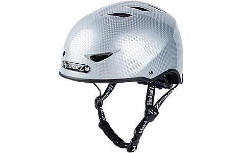 image of HardnutZ Silver Carbon Fibre Street Helmet - Large 58-61cm