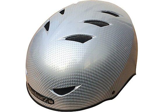 HardnutZ Silver Carbon Fibre Street Helmet - Medium 54-58cm