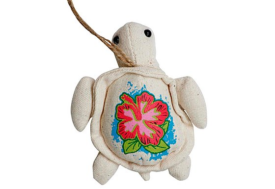 Bahama Plush Turtle Necklace Car Air Freshener Pina Colada