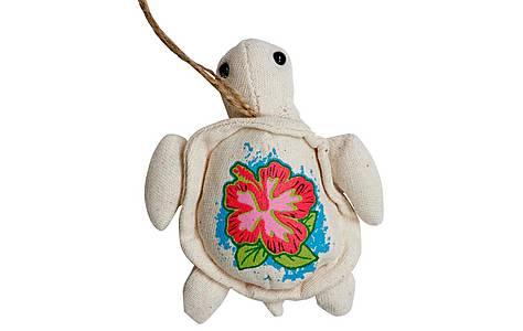 image of Bahama Plush Turtle Necklace Car Air Freshener Pina Colada