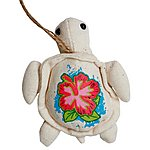image of Bahama Plush Turtle Necklace Car Air Freshener Pina Colada