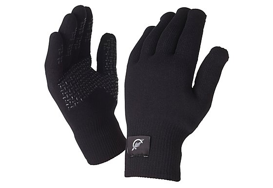 SealSkinz Ultra Grip Black Gloves - Medium