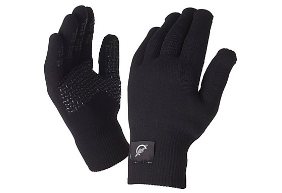 SealSkinz Ultra Grip Black Gloves - Large