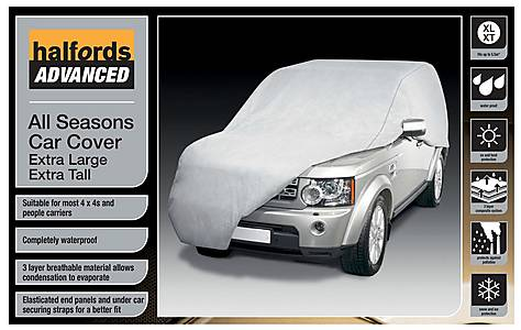 image of Halfords Advanced All Seasons Car Cover 4x4