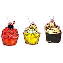 image of Flo's Fancies Cupcake Car Air Fresheners 3 Pack