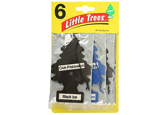 Little Tree New Car/Black Ice 6 Pack Air Freshener