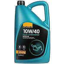 image of Halfords 10W40 Part Synthetic Motor Oil 4L