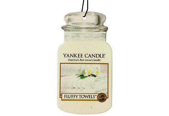 Yankee Candle Jar Car air Freshener Fluffy Towels