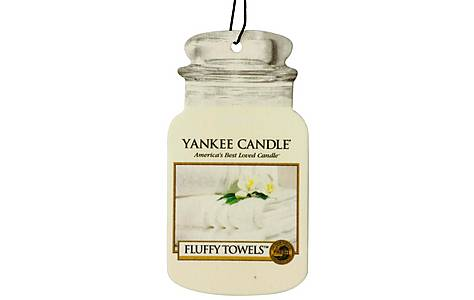 image of Yankee Candle Jar Car air Freshener Fluffy Towels