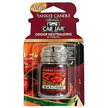 image of Yankee Candle Jar Car air Freshener Black Cherry