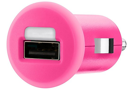Belkin Mixit Car Charger for Mobile Devices - USB - 1 Amp (Pink)